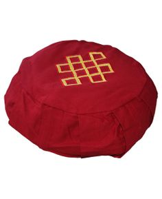Handmade meditation cushion with organic buckwheat filling. Meditation supplies available at BuddhaGroove.com.