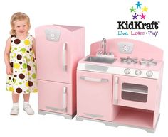 kidkraft pink retro kitchen & refrigerator 53160 granite counter tops 41 best play kitchens images on pinterest | ...