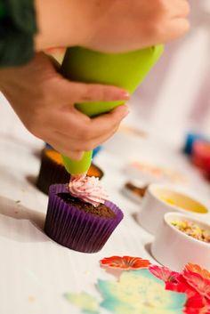 Atelier cupcakes. Crédit photo : Trait'Tendance.