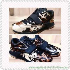 "Preto/Sail ""Pony Hair"" 716654-001 Nike KD 7 EXT venda de tenis on line"