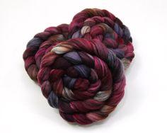 Merino Wool/ Silk (80/20) Roving (Combed Top) - Handpainted Roving for Spinning or Felting by woolgatherings on Etsy https://www.etsy.com/listing/252296432/merino-wool-silk-8020-roving-combed-top