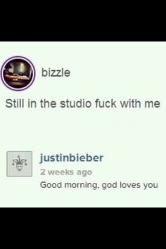 There's Bizzle then there's Justin