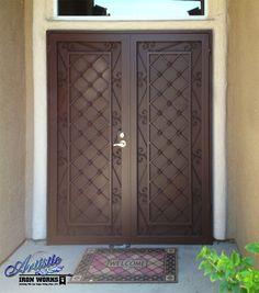 Wrought Iron Security Screen Double Doors - FD0014A