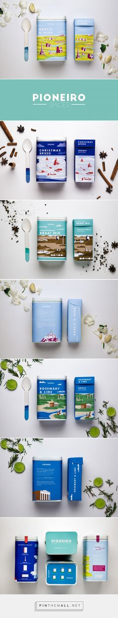 Pioneiro Spice by Christiaan Lourens. Source: Daily Package Design Inspiration. Pin curated by #SFields99 #packaging #design #inspiration #ideas #innovation #branding #spices
