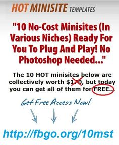 Get 10 Hot Minisite Temlates For Free
