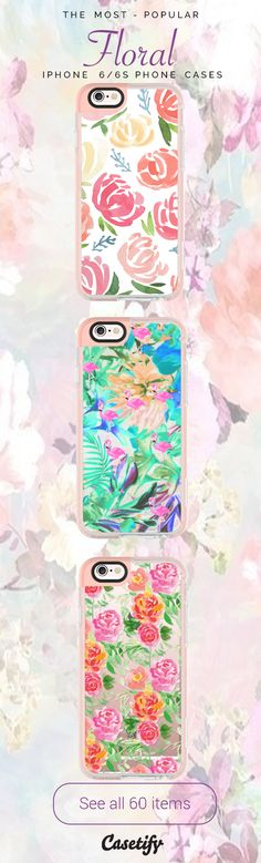 All time favourite Floral iPhone 6 protective phone case designs  | Click through to see more iphone phone case ideas. Floral never go out of style! >>> https://www.casetify.com/collections/iphone-6s-floral-cases#/?device=iphone-6s | @casetify