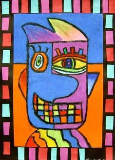 Check out student artwork posted to Artsonia from the Picasso-Style Portraits project gallery at Whitney Elementary School. Pablo Picasso, Art Picasso, Picasso Style, Picasso Kids, Portraits Cubistes, Picasso Portraits, Art Espagnole, Classe D'art, Spanish Art