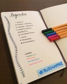 """235 curtidas, 6 comentários - Bullet Journal Inspire  (@bujoinspire) no Instagram: """"Antes de começar o BuJo é importante fazer uma legenda para facilitar as listas diárias e mensais…"""""""