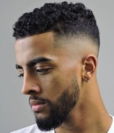 Curly Hair Fade: Best Curly Taper Fade Haircuts For Men Guide) Short Curly Hair Taper Fade Haircut – Curly Hair Fade: Best Curly Hair on Top with Taper Fade Haircuts on the Side and Back Fade Haircut Curly Hair, Mens Short Curly Hairstyles, Male Haircuts Curly, Taper Fade Haircut, Fine Curly Hair, Wavy Hair Men, Short Wavy Hair, Curly Hair Cuts, Haircuts For Men