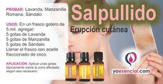 salpullido o Erupción cutánea, aceites esenciales