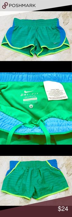 Nike Dri-Fit Running Shorts. Green/Neon Yellow. Nike Dri-Fit Running Shorts. Green/Neon Yellow. This pair is in excellent condition. Without pilling or stains. Smokey-free home. Fast shipping. I will accept reasonable offers. Nike Shorts