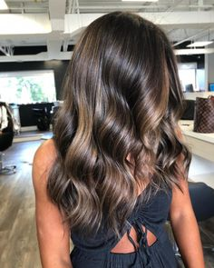 Luscious Balayage With Subtle Purple Tones - 20 Stunning Examples of Mushroom Brown Hair Color - The Trending Hairstyle Balayage Brunette, Brunette Hair, Balayage Hair, Ombre Hair, Brunette Highlights, Long Curly Hair, Curly Hair Styles, Coffee Hair, Non Blondes