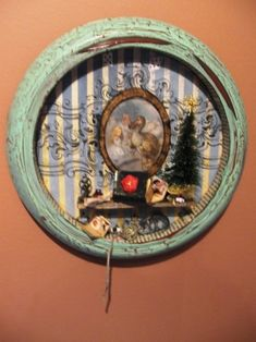 altered clock for christmas