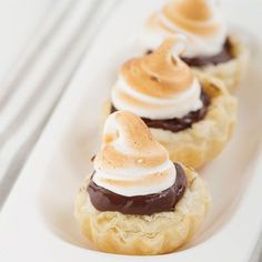 S'mores Puff Pastry Mini Tarts.
