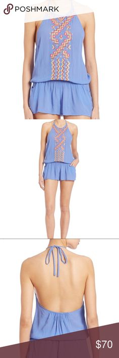 Shoshanna romper Worn once, then ordered a different size bc this was too small on me. Size xs or p, originally 210! Beautiful romper bought online from saks, similar to tibi milly and Mara Hoffman, also used to be sold on shopbop! Shoshanna Dresses Mini