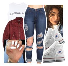 """""""Scorpio♏️"""" by gabb-slayy ❤ liked on Polyvore featuring Wildfox, Topshop and Converse"""