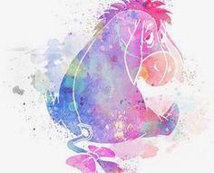 Disney Winnie the Pooh Eeyore Eeyore Watercolor Print-Wall Decor-Home Decor-Wate… Disney Winnie the Pooh Eeyore Eeyore Aquarell-Print-Wand-Dekor-Home Decor-Aquarell Digital Art-Wall Art-Wall Poster Poster Disney Paintings, Disney Artwork, Disney Drawings, Watercolor Disney, Watercolor Print, Tattoo Watercolor, Watercolour Paintings, Disney Tattoos, Disney And Dreamworks