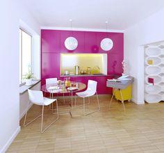 VINTAGE & CHIC: decoración vintage para tu casa · vintage home decor: Cocinas en rosa y amarillo (y algunos mensajes geniales) · Yellow & Pink kitchens (& a few great messages)
