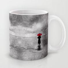 waiting in the sea II  -  by Viviana Gonzalez Mug by Viviana Gonzalez - $15.00