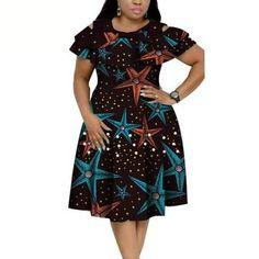 African Cotton Dashiki Wax Print Pattern Ankara Pearls Dress for Women – Afrinspiration African Dresses Plus Size, African Wear Dresses, Ruffle Collar, Collar Dress, Pearl Dress, Dashiki, Clothes For Women, Ladies Clothes, Print Patterns