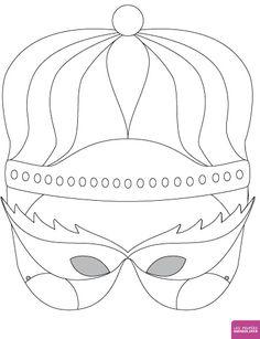 Masque Reine à colorier Poupées Gwendoline, Masque à colorier - Loisirs créatifs