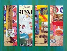 Decoupage bookmarks....very easy and fun to make from whatever you have leftover in your paper box.