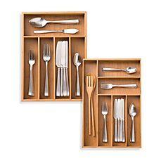 Kitchen Drawer Organizers & Dividers   Utensil Organizers - Bed ...