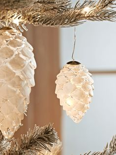 NEW Light Up Frosted Pinecone - Small