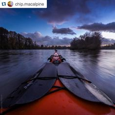 Beautiful evening caught by @chip.macalpine on the Willamette River in Oregon. Anyone else looking forward to a paddling weekend just as beautiful? #aquabound ・・・ A fantastic evening out on the water with friends, circumnavigating Ross Island in the Willamette River. Sunset turns to twilight and the light in the sky fades. Everything around succumbs to the shadows. Nocturnal animals stir and move about. The twinkling lights of the city take over, behind each one a person or a family is…
