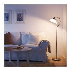 KROBY Floor/reading lamp, nickel-plated, glass - nickel-plated/glass