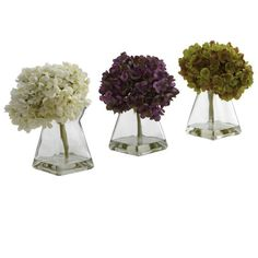 Nearly Natural 1313-S3 Hydrangea with Vase, White/Purple/Green, Set of 3 Nearly Natural,http://www.amazon.com/dp/B00FUNLVSC/ref=cm_sw_r_pi_dp_9tRctb05G22Z4NX3