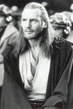Liam Neeson as Qui-Gon Jinn. Yusss