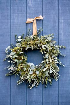 A touch of Australia for Christmas - Eucalyptus wreath More