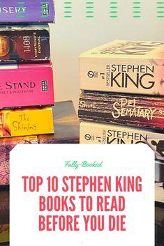 Best #StephenKing #books you must read before you die. Best Books Of All Time, Best Books List, Best Books To Read, Great Books, Book Club Books, Book Lists, Books To Read Before You Die, Stephen King Books, Dark Spirit