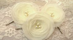 Sweet and Simple Ivory Chiffon and Pearl by JoyfulMaidenDesigns, $22.00