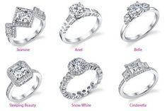 Disney engagement rings Love the Jasmine!!!