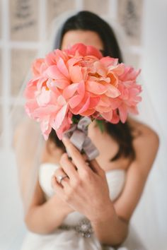Coral peonies Photographer: @kateignatowskiphoto | Styling & Design: @littlevintagerentals Diy Wedding Bouquet, Diy Wedding Flowers, Wedding Colors, Bridal Bouquets, Bridal Boudoir Photos, Bridal Portraits, Wedding Trends, Wedding Blog, Wedding Ideas