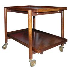 1stdibs | Danish Rosewood Serving Trolley by Poul Hundevad