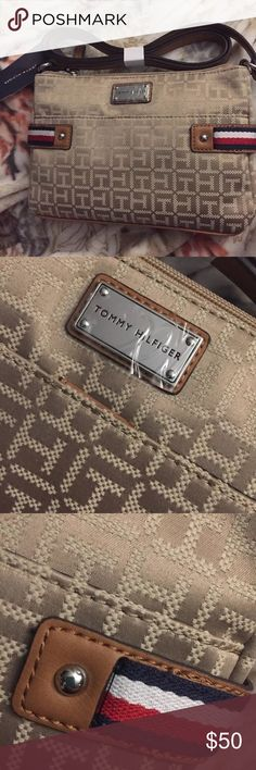 NWT Tommy Hilfiger crossbody bag NWT tan color Tommy Hilfiger Bags Crossbody Bags