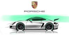 Tipical Porsche sketch on photoshop by P. Ruperto