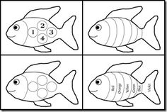 Rainbow Fish printable activity goes along with the book by Marcus Pfister.