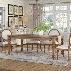 Calila Extendable Dining Table by Birch Lane Heritage – StellarHeart Counter Height Dining Table, Solid Wood Dining Table, Extendable Dining Table, Dining Table In Kitchen, Plywood Furniture, Dining Room Furniture, Dining Chairs, Dining Room Tables, World Of Interiors