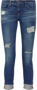 Frame Denim Le Garcon distressed slim boyfriend jeans on shopstyle.com