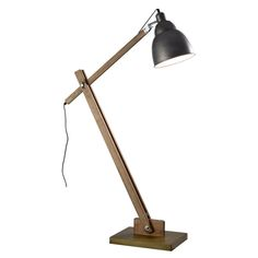 Rough luxe version of this classic table and desk lamp. Ideal for industrial interiors, whether at home or at work. Desk Lamp, Table Lamp, Industrial Interiors, Black Wood, Chrome, Lights, Traditional, Metal, Classic
