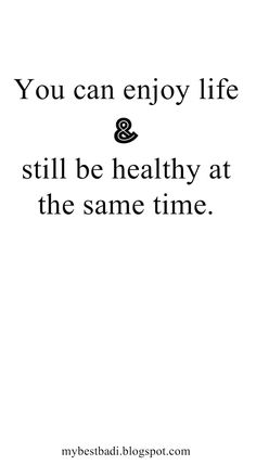 So true. Hate when people say 'you only live once' or 'i want to live life' as an excuse for being unhealthy.