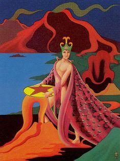 King of Coins - Navigators of the Mystic Sea Tarot by Julia Turk