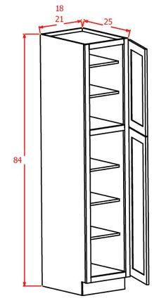 "84""H - Wall Pantry Single Door"