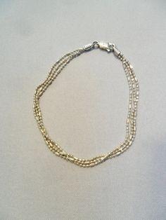 Vintage Sterling Silver Bracelet Signed 925 FAS by KathiJanes