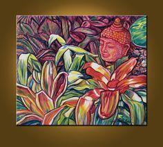Splendid Buddha  20 x 24 inch Original Oil by ElizabethGraf