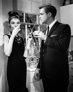 "Audrey Hepburn and George Peppard; production still from Blake Edwards' ""Breakfast at Tiffany's"" (1962)"